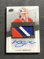 2014-15 UPPER DECK PREMIER LAURENT BROSSOIT ROOKIE AUTO PATCH #ed 35/299