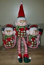 """ONE 17 """" Sitting Elf Plush Hat Scarf"""