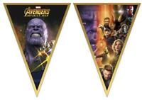 AVENGERS INFINITY WAR PLASTIC PARTY FLAG BANNER 2.3M DISNEY THOR HULK IRON MAN