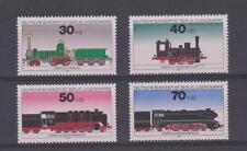 Alemania estampillada sin montar o nunca montada sello conjunto Deutsche Bundespost BERLIN 1975 trenes SG B472-B475