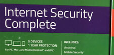 Webroot Internet Security Complete + Antivirus 2018-5 Devices &1 Year (key code)