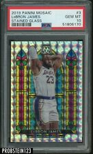 2019-20 Panini Mosaic Stained Glass #3 LeBron James Lakers PSA 10 GEM MINT