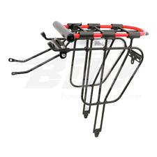 """14357 Portabagagli posteriore bici 24""""-26"""" in alluminio nero + lucchetto ad arco"""