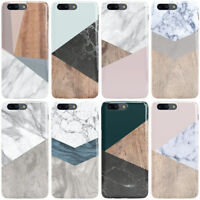 DYEFOR WOODEN MARBLE GEOMETRIC PHONE CASE COVER FOR ONEPLUS