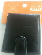 Mens Real Leather Wallet With Zip Coin Pocket & Photo Sleeve