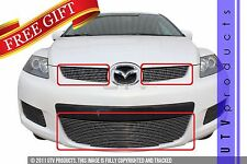 GTG 2007 - 2009 Mazda CX7 3PC Polished Overlay Billet Grille Grill Kit