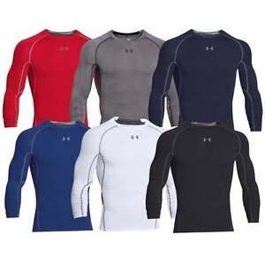 Under Armour Men's UA Compression Long Sleeve HeatGear T-Shirt Sonic Workout Tee