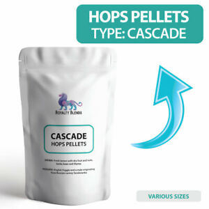 CASCADE HOPS for Home Brew Brewing DRIED HOP PELLETS 50g 100g RESEALABLE POUCHES