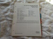 John Deere 410 510 round baler technical manual