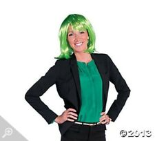 Synthetic Neon Pageboy Wig - Green