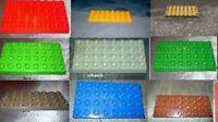 Lego Duplo Bau Platte 4x8 4 x 8 gelb bau rot beige tan  grau lindgrün grün
