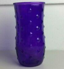 "Vintage Purple 10592-06 Hoosier Glass 02 8.5"" Hobnail Vase #Q"