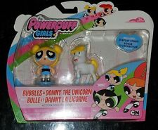 Powerpuff Girls Spinmaster Bubbles & Donny The Unicorn Figure Pack - New Sealed