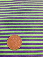 100% cotton quilting craft Fabric Green Purple Stripe Graphix paintbrush studios