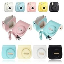 Camera Leather Case  Shoulder Bag Cover For Fujifilm Fuji Instax Mini 8 Polaroid