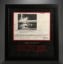 Star Wars - Ep VI - ROTJ Signed Production Storyboard - Destroyer Crash (J23)