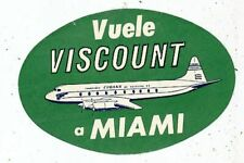 AD. LABEL AIRLINES COMPANY PUBLICITE AUTOCOLLANT COMPAGNIE AERIENNE CUBANA AIR L