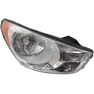 Headlight For 2010 2011 2012 2013 Hyundai Tucson Right With Amber Signal Light