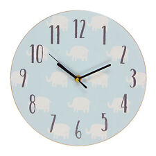 PETIT CHERI design éléphant MDF Chambre à coucher 17cm Horloge -