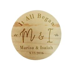 Custom Personalize Ring Box Engraved Wedding Proposal Engagement Bearer Simple