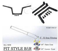 """Black 8"""" Ape Hanger Bar Fat 1.25"""" Handlebar Fit For Harley 48 SPORTSTER FXST"""