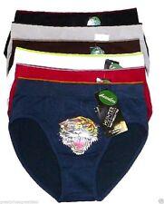 6 pk Mens Seamless Microfiber Briefs NEW Underwear #SB202 A Lot Tiger Prints S/M
