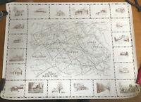 "1979 LE Historic Map Main Line Philadelphia Wall Art Poster Decor 25 x 34"""