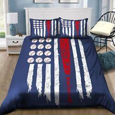 Baseball American Flag Bedding Sets