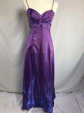 Purple Iridescent Taffeta Dress Gown Prom Princess Costume Sweetheart Empire 8