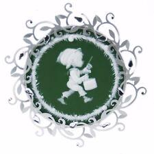 Green Silver Hallmark Metal Drummer Boy Christmas Ornament Holiday Decoration