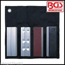 BGS - 8 Pcs Bench Vice Jaw Protector Set, 100 x 25 mm - Pro Range - 8442
