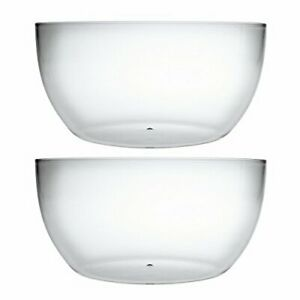 Large Acrylic Mixing And Serving Bowls, Great for Serving Salad, Popcorn,