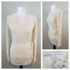Old Navy M Light Cream Beige Diamond Texture Full Wrap Sweater  Long Sleeves