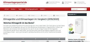klimaanlagenportal.de ✅Geschäftsverkauf Affiliate Projekt Top Domain Klimaanlage