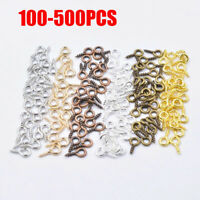 Mini Eye PinsTiny Jewellery Screw Hooks Eyelets Threaded Jewelry Pendant Clasps