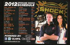 Spokane Shock--2012 Magnet Schedule--AFL