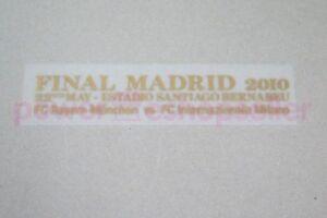 Champion League Final Madrid 2010 Bayern Munchen vs Inter Milan Badge/Patch