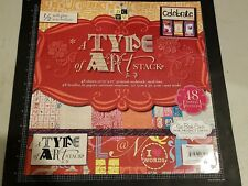 "DCWV DIe Cuts With a View the The A type of Art stack 12""x12"" 48 - paper gloss"