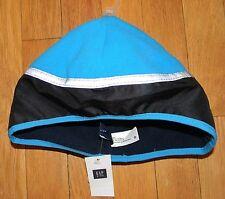 Kids Gap Fleece Reflective Turquoise Blue Navy Blue Winter Hat S/M NWT