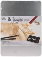 "LIFE DRAWING Art Kit With Tin 8-1/2"" x 6"" - Royal Brush"