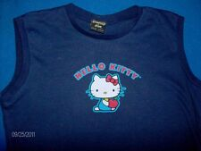 Hello Kitty t shirt tank top navy ladies (juniors) size LARGE
