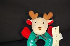 "Reindeer Baby First Christmas Lord Taylor Plush New 6"" Stuffed Animal Lovey Toy"