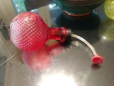 Red Knurled Glass hummingbird feeder