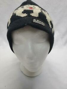 Burton Jenkins Heavy Knit Pom Pom Beanie Black NEW