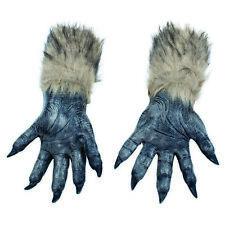 Mens Ladies Halloween Horror Werewolf Big Bad Wolf Hands Gloves Costume Accessor