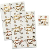 BULK FLORAL TEAM BRIDE TO BE TATTOOS TRIBE SQUAD HEN PARTY NIGHT BADGES SASHES