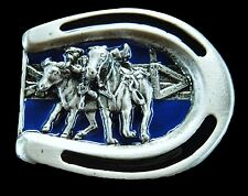 Western Ranch Horse Horseshoe Rodeo Belt Buckle Boucle de Ceinture Cheval
