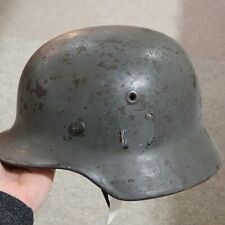 Original Named WW2 German M40 Double Decal Helmet