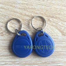 RFID 125KHz EM4100 Proximity ID Token Tag Key Keyfobs Chain Blue-100pcs
