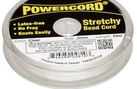 25 Meter Spool Clear No Fray 0.5mm Round Elastic POWERCord with 4 Pound Test